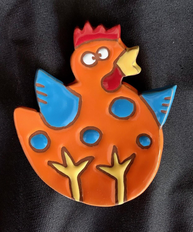 Spoonrest, chicken, orange