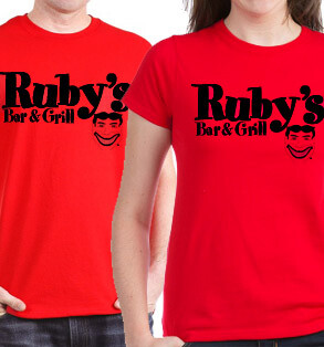 Ruby's classic shirt - red - celebrating 80 years