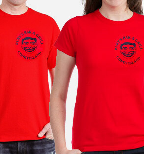 Ruby's classic shirt - red - small circle logo