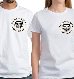 Ruby's classic shirt - white - small circle logo
