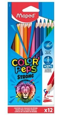 Lapsa  shumëngjyrësh 12-copësh Maped Color'Peps Strong