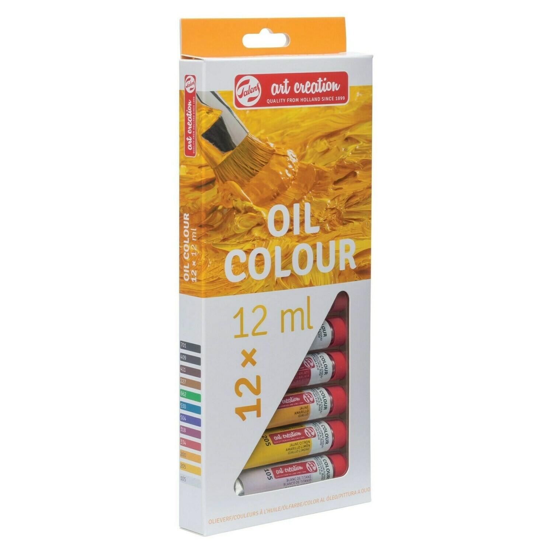Set ngjyrash vaji 12 x 12 ml TALENS ART CREATION OIL COLOUR