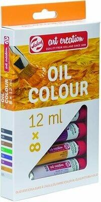 Set ngjyrash vaji 8 X 12 ml  TALENS ART CREATION OIL COLOUR