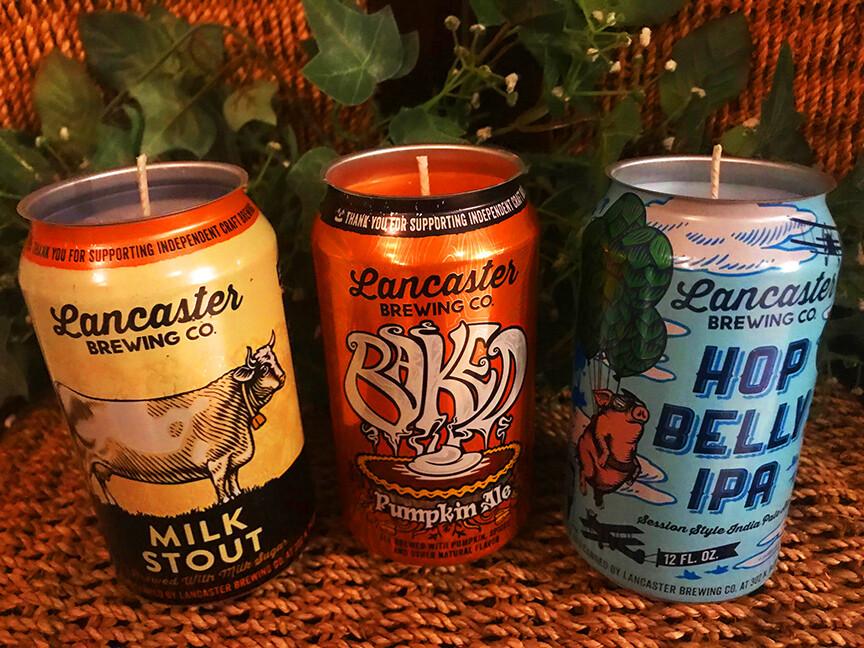 Milk Stout, Baked Pumpkin & Hop Belly Beer CANdle 3pack