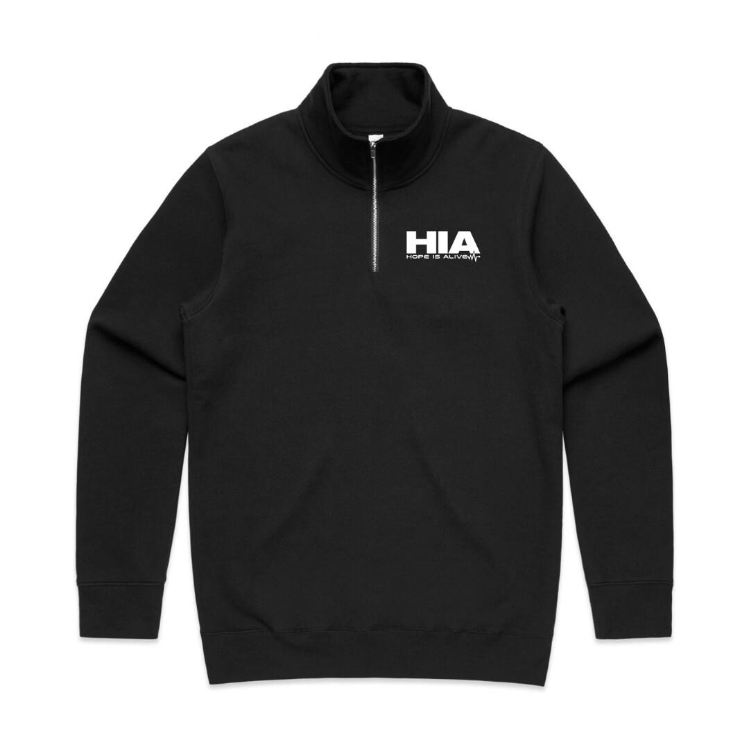 Black HIA half crew Pull Over