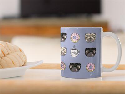 Descarga Diseño de Taza PUGS & COFFEE ($1)