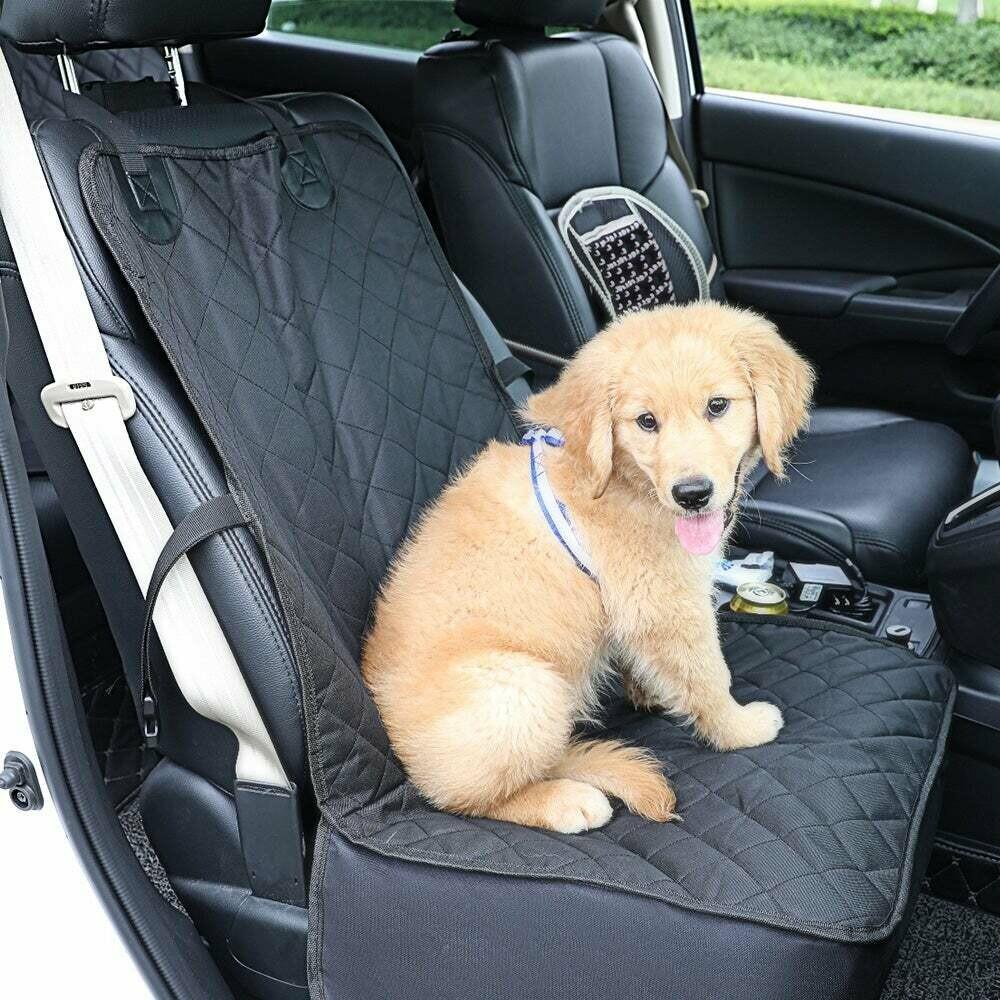 Protector de asiento delantero para viajar con perros o gatos