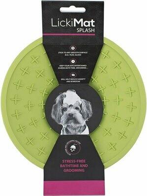 Lickimat Splash Lick Mat Bowl con ventosa, juguete de distractor de tiempo de baño, perros y gatos, recorte de uñas y arreglo, un regalo de comida con mantequilla de mani o yogur para mascota