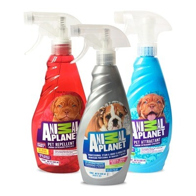 Animal Planet Trio de Entranamiento: Atrayente, Repelente y Eliminador de olores