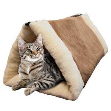 Túnel y cama para gatos y perros pequeños 2 en 1
