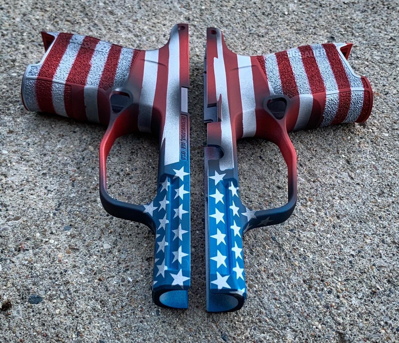 Sig Sauer American Flag or Thin Blue Line Grip Module