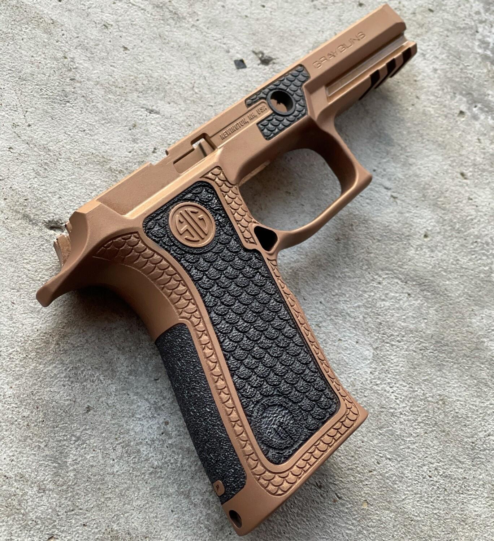 Sig Sauer P320 X-Carry Gray Guns Grip Module- Copper/Black Stippling  (READY-2-SHIP)