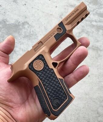 Sig Sauer P320 X-COMPACT Gray Guns Grip Module- Copper/Black Stippling  (READY-2-SHIP)