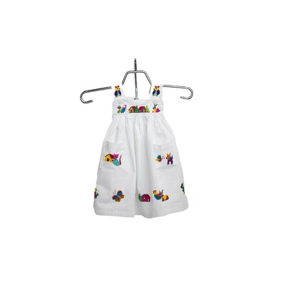 Salvadorian Embroidered Girl's Dress