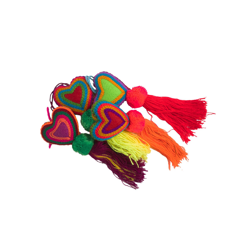 Mexican Heart Tassel Ornament