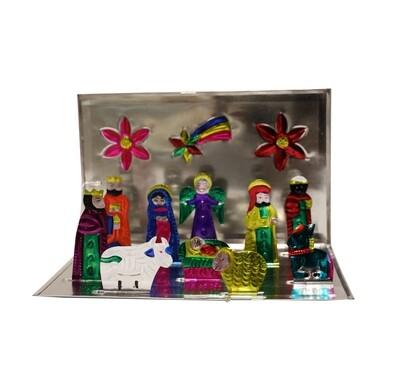 Mexican Flat Nativity Set