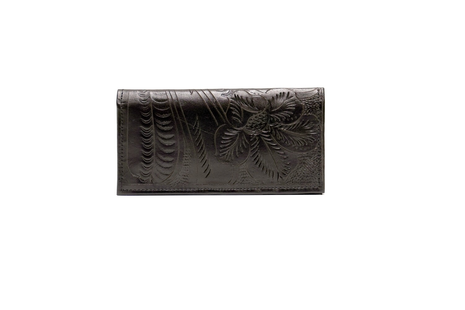 Paraguay Tooled Leather Checkbook Wallet
