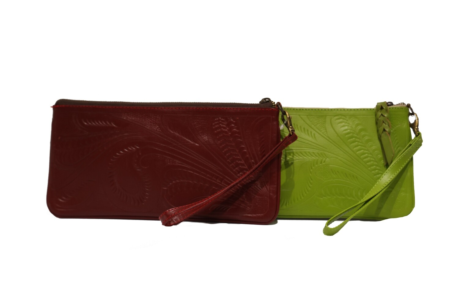 Paraguay Tooled Leather Wristlet