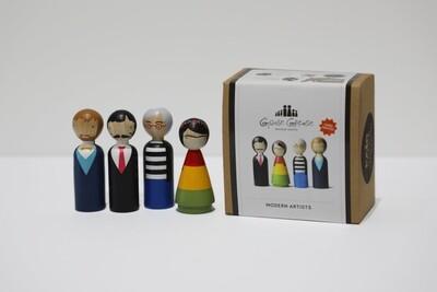 Columbian Modern Artists Peg Dolls