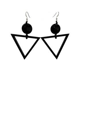 Ecuadorian Triangle Wood & Tagua  Earrings