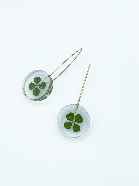Colombian Botanical Full-Moon Clover Earrings