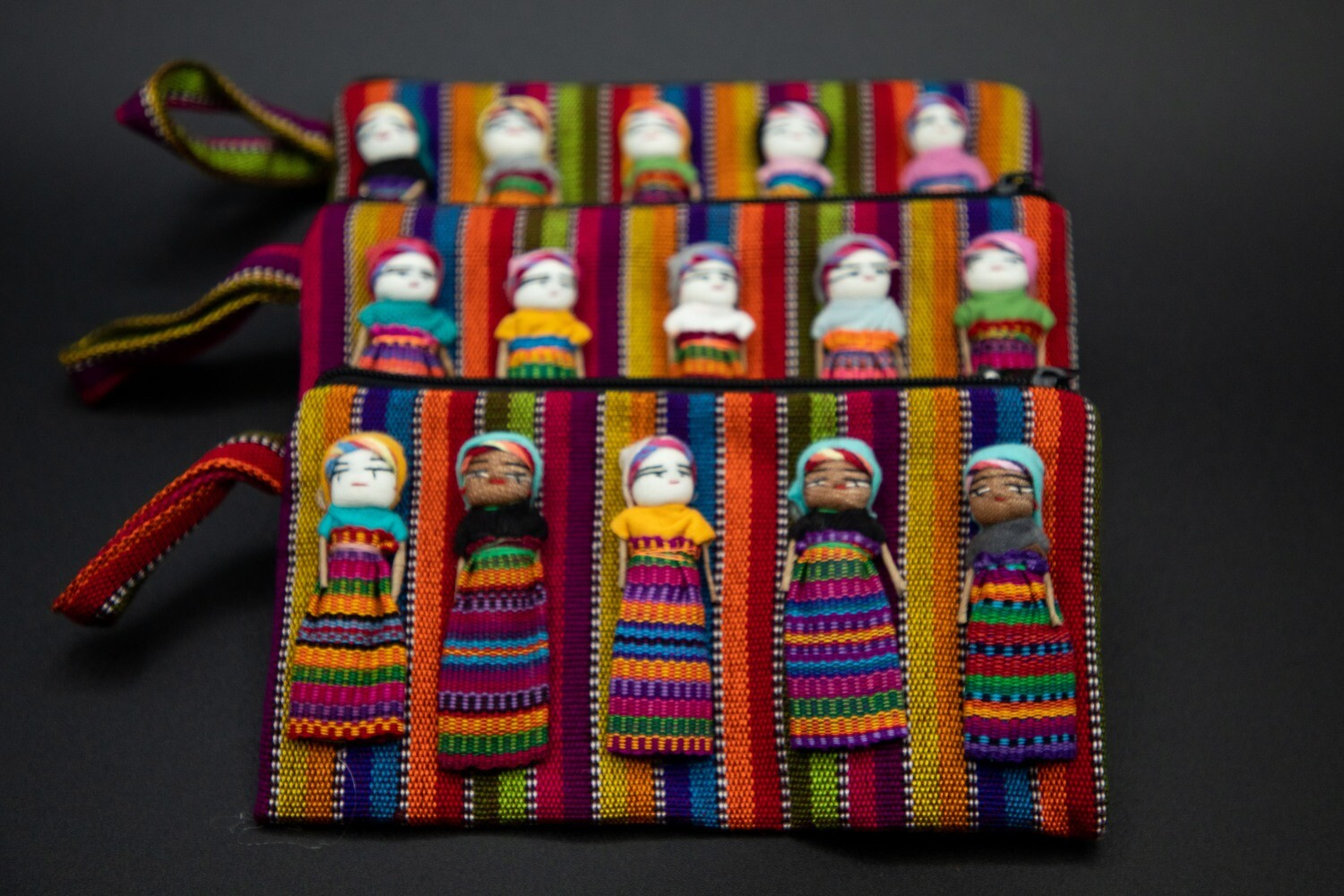 Guatemalan Woven Worry Doll Pouch