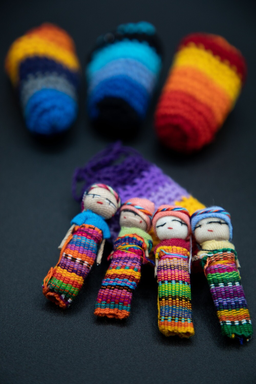 Guatemalan Worry Dolls in a Pouch