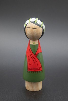 Colombian Frida Peg Doll