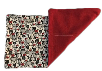 Dogs and Red Flannel Wheat Bag