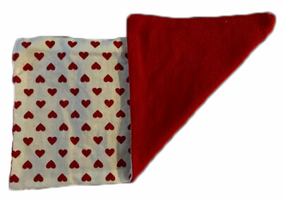 Red Cotton Hearts and Red Flannel Wheat Bag