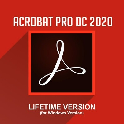 Adobe Acrobat Pro DC 2021 Lifetime All Languages For Windows/MacOs (Not CD) Pre-Activated