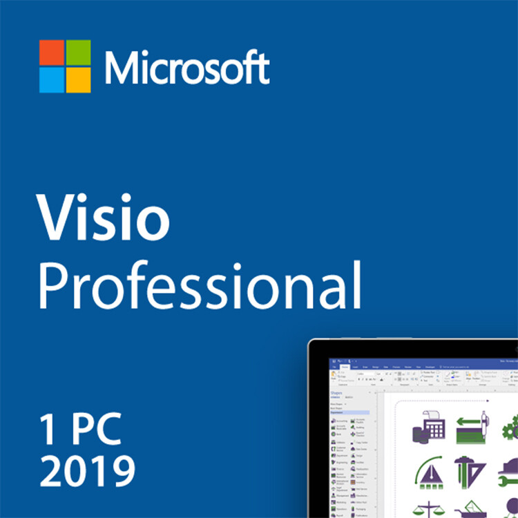 Microsoft Visio Professional 2019 Key Lifetime 32/64 Bit with Download Link(Not CD)