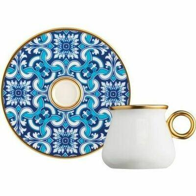 6x PORCELAIN TURKISH COFFEE SET