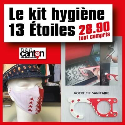 Le kit hygiène 13 étoiles ( Masque + Clef)