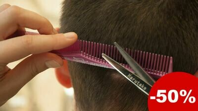 Une coupe de cheveux pour homme