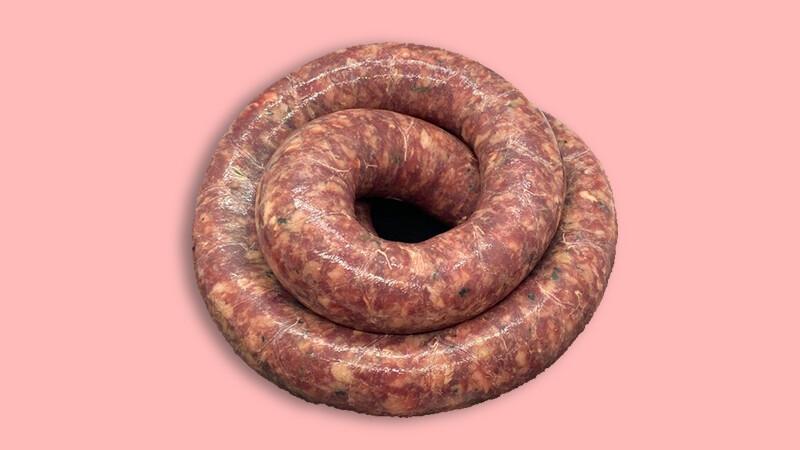Saucisse à rôtir de porc Labellisé Marque Valais 500gr