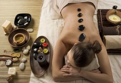 Massage aux pierres chaudes 90 minutes