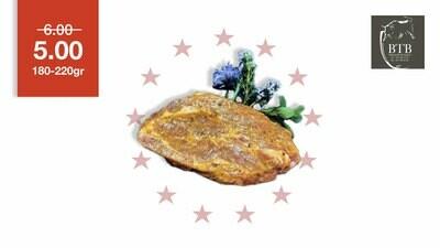 Tranche de cou de porc marinée