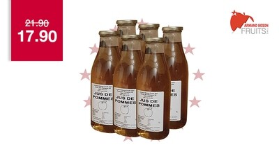 6 X 1 litre de jus de pomme de Charrat