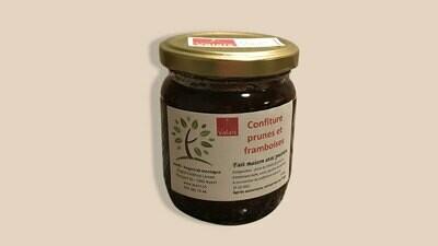 Confiture prunes-framboises