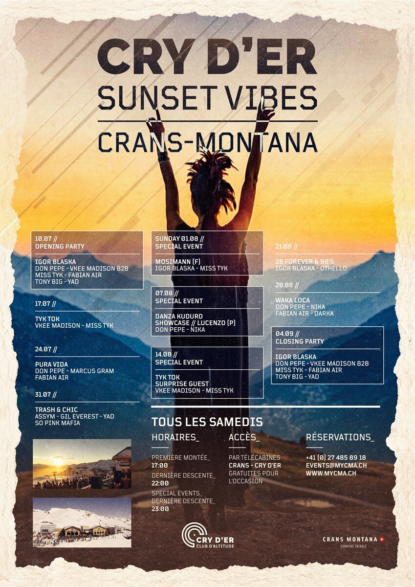 Cry d'Er Sunset Vibes samedi 24  juillet