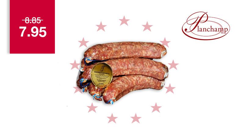 Saucisse crue de porc aux noisettes Labellisé Marque Valais