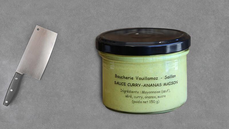 """Sauce Cury-Ananas Maison """"Chez Fabrice"""""""
