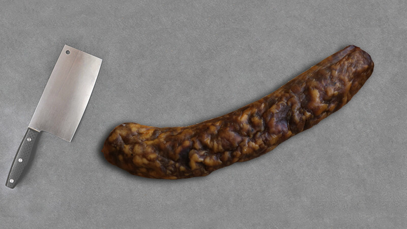 Saucisse séchée aux noix