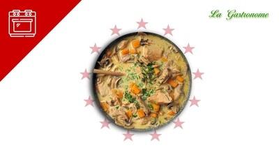 Sauté de porc aux carottes et champignons