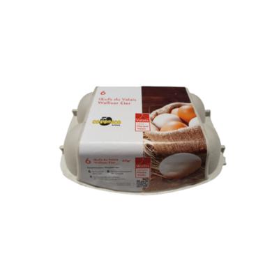 6 gros œufs Marque Valais 60g+