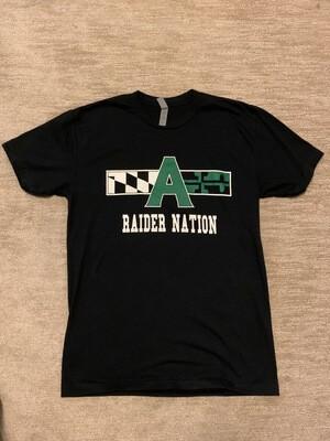 Raider Nation T shirt- medium, black