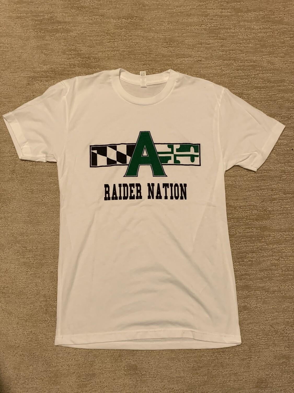 Raider Nation T shirt- small, white