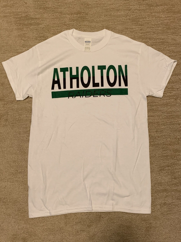 Atholton Raiders T shirt- small, white