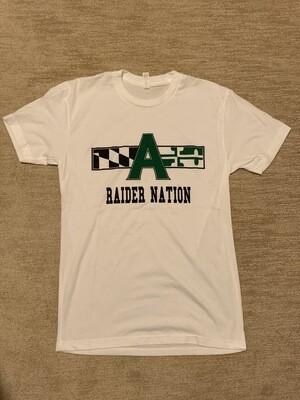 Raider Nation T shirt- large, white